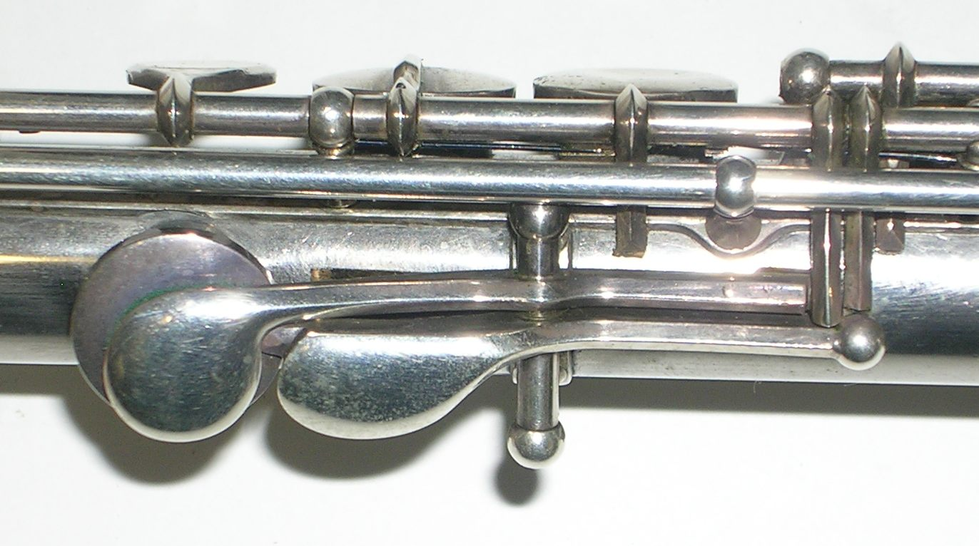 Thumb keys with B natural trill lever.